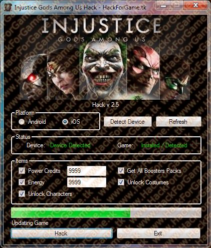 Great Injustice Gods among Us Hack. Add free and unlimited ...