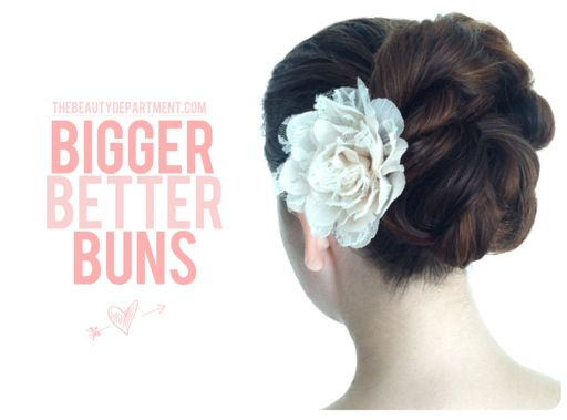 Bulk up a boring bun using rope braids. Here's how…