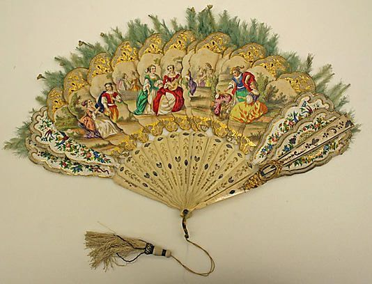 Fan  Date: ca. 1840 Culture: European http://www.metmuseum.org/Collections/search-the-collections/80053824?rpp=20&pg=2&ft=*&what=Fans&pos=29