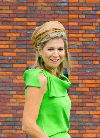 Dutch Queen Maxima attends the official opening of the new nursing center 't Hamrik in Nieuwolda, The Netherlands, 07 July 2015.