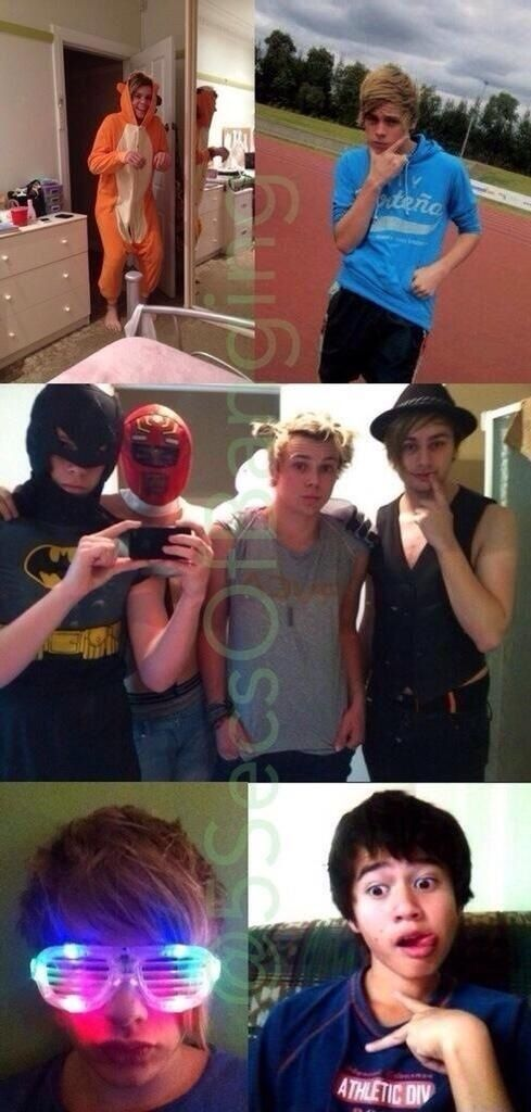 CAN SOMEONE PLSE TALK ABOUT THHEse pictures with me!!!!>>> Michael looks like a male stripper!!!<<<< oh my gosh. LOL!!!<<<my lukey is so funny <3>>>so much fetus!!!<<omh XD