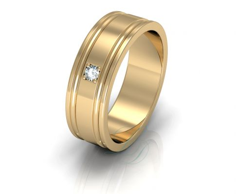 VANESSA - Wedding Ring FOR HER - LucyDiamonds.cz  14k Rose gold wedding ring with a diamond...