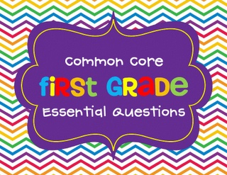 common core first grade essential questions....If we are going to be required to have these posted....a great investment!