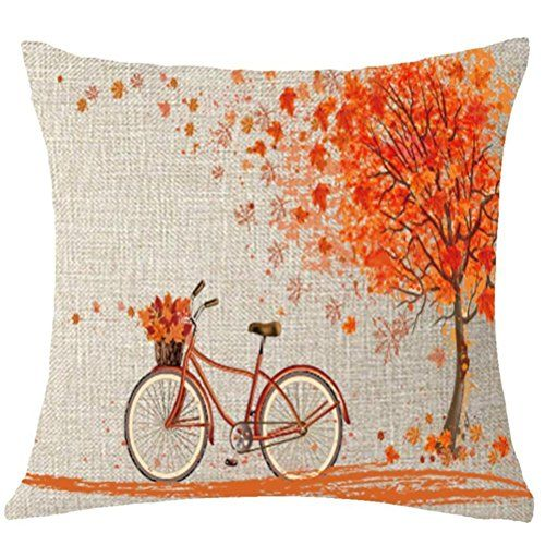 """#ASTV #Happy #autumn #Fall #Big #tree #Maple #Leaf #bicycle #Throw #Pillow #Cover #Cushion #Case #Cotton #Linen #Material #Decorative #18 """"x18'' #inchs #Square 1:Size :18 """"x 18'' (45 x 45CM),maybe have a little size difference 2:Material : #cotton #linen 3:Only have the #cover, only one piece, insert is not include.every #cover have invisible zipper https://boutiquecloset.com/product/astv-happy-autumn-fall-big-tree-maple-leaf-bicycle-throw-pillow-cover-cushion-case-cotton-lin"""