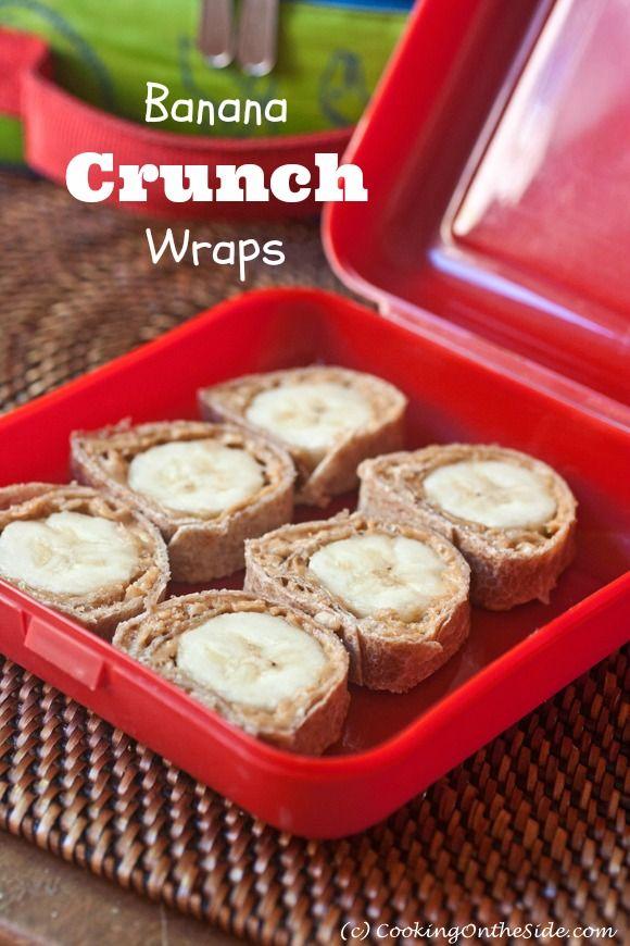yummy banana crunch wraps #lunch #school #bentobox