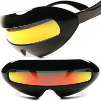 Space Alien Robot Party Rave Costume Cyclops Futuristic Novelty Sunglasses E43B