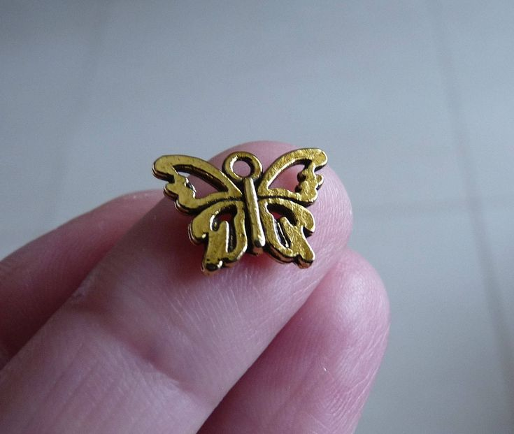 Excited to share the latest addition to my #etsy shop: Butterfly Charm, Butterfly Charm for Bracelet, Butterfly Connectors, Antique Gold Tone Butterfly Charms for Earrings http://etsy.me/2EGSZBt