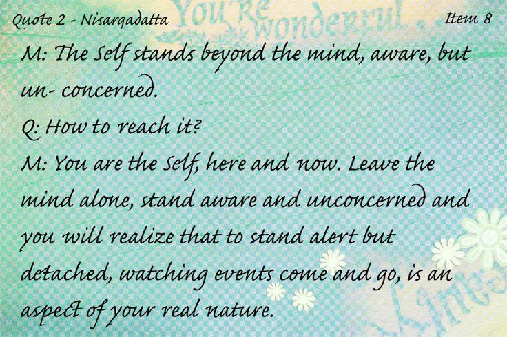 Quote 2 - Nisargadatta