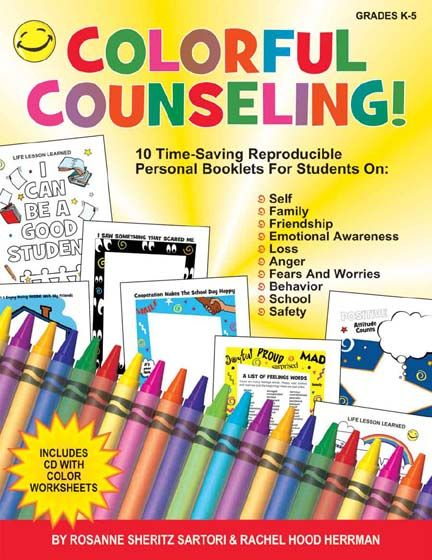 Colorful Counseling from Marcoproducts.com has 10 ready-to-reproduce lifeskill units that will enable children to communicate their thoughts and emotions through drawings which can later be used as springboards for discussion.