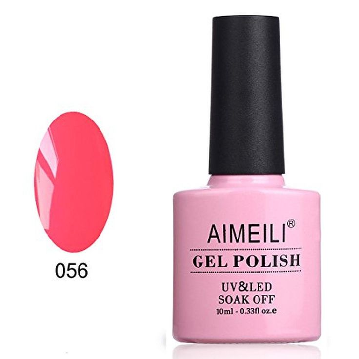 AIMEILI Soak Off UV LED Gel Nail Polish - Neon Peachy Pink (056) 10ml - Brought to you by Avarsha.com