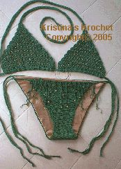 Kristina's Krochet - Crochet designs for the high fashion woman. Summer Fashions In Thread Crochet and Sexy Swim Wear To Crochet by Kristina Dannels. Free crochet patterns for crochet clothing like bathing suits, sarongs, skirts, dresses and dog sweaters.