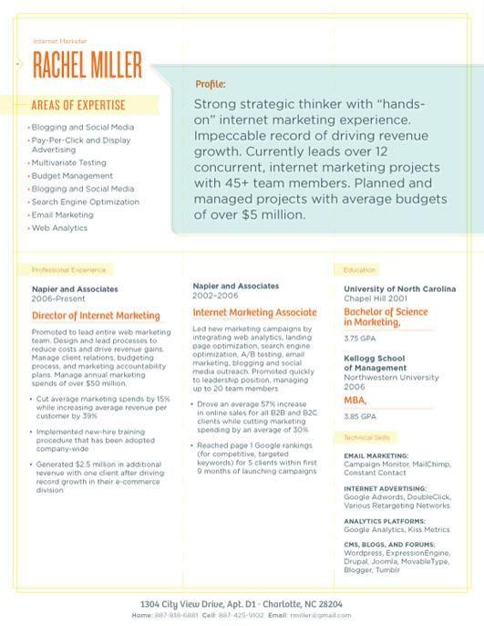 Les 25 meilleures idées de la catégorie Exemple de cv pdf sur - google resume pdf
