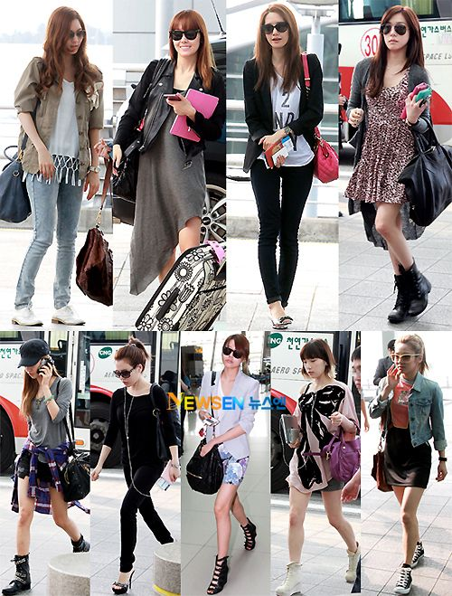 Fashion Street Style Smtown Airport Fashion Kpop Fashion Pinterest Airport Fashion Snsd