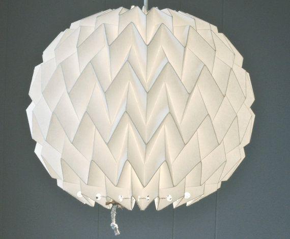 BUBBLE: Origami Papier Lampenschirm  weiß / von FiberStore auf Etsy