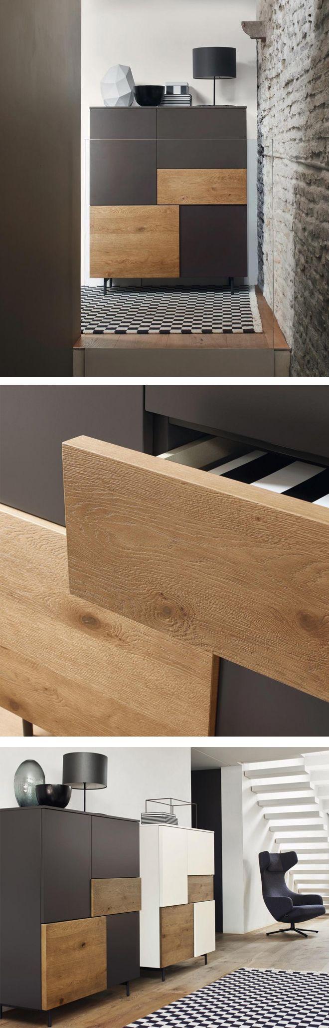 Eine tolle Optik bieten die zwei unterschiedlich dicken Fronten des Incontro Highboards von Livitalia.   #Kommode #chestofdrawers #Highboard #Livarea #Wohnzimmer #livingroom #bedroom #Schlafzimmer #Esszimmer #diningroom #inspiration #interiordesign #interiordecorating #home #wohnen #einrichten #Designmöbel #modern #minimalistisch #Trend #wohntrend #wohnstil #Design #Möbel