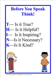THINK FREEBIE Poster and Bullying Tips!