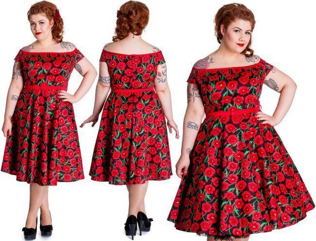 Cordelia Red Poppy Dress by Hell Bunny