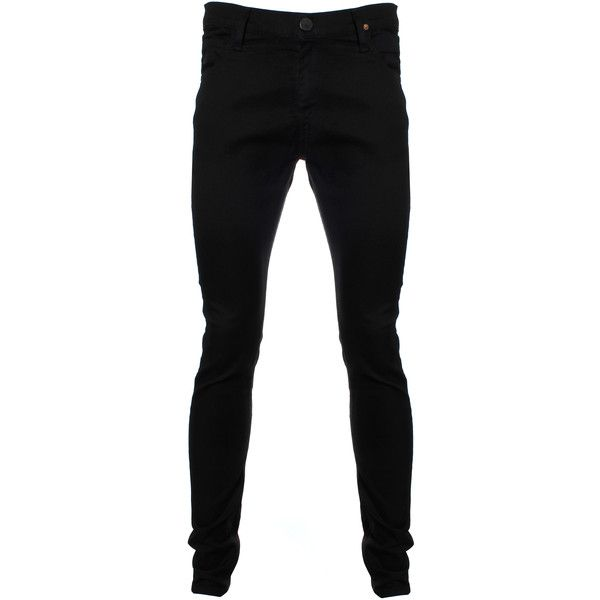 Vivienne Westwood Anglomania Drainpipe Jeans ($130) ❤ liked on Polyvore featuring men's fashion, men's clothing, men's jeans, men, pants, jeans, male clothes, mens pants, mens skinny jeans and mens button fly jeans
