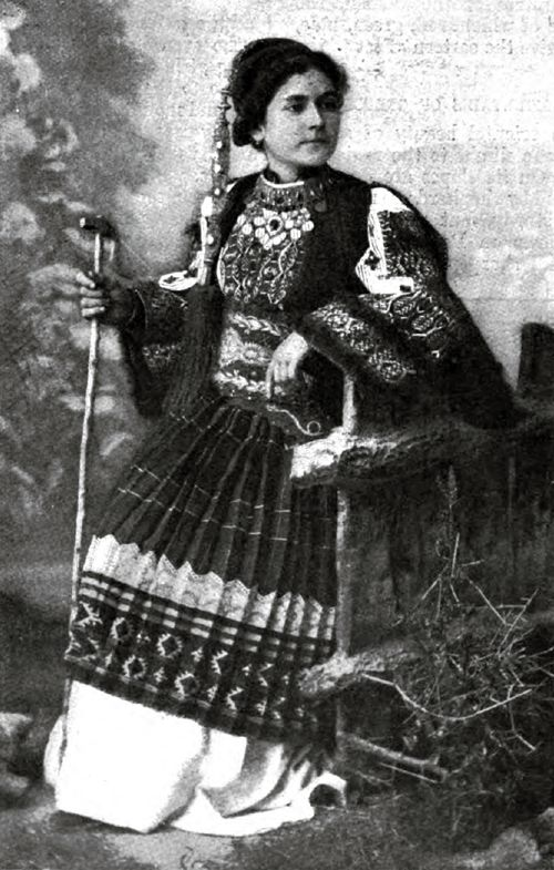 A Girl Of The Greek Mountains -- A Shepherdess Of Parnassls In Her Holiday Dress.