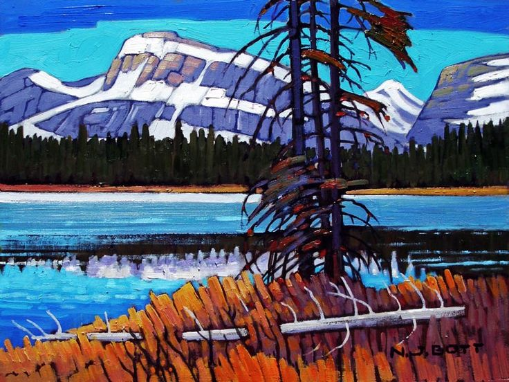 Nicholas Bott OIL Lower Kananaskis Lake