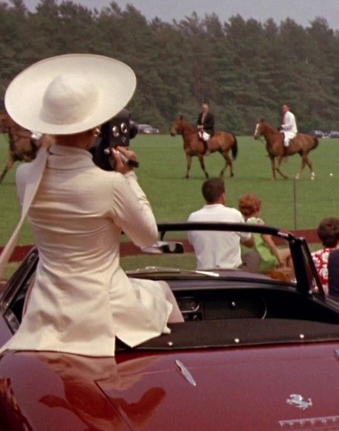 A day watching polo at Smith's Lawn with a vintage car and a hefty picnic hamper in the boot.