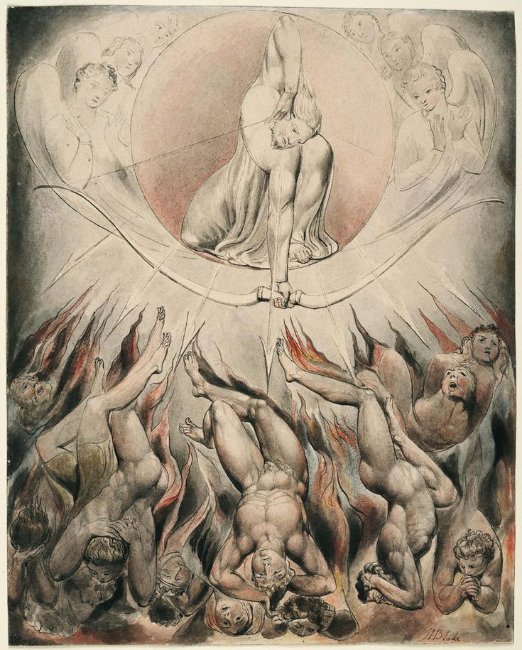 'The Rout of the Rebel Angels' (Thomas set) -by William Blake (for John Milton's Paradise Lost)