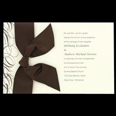 It's my invitations but mine are in black and white instead brown and cream