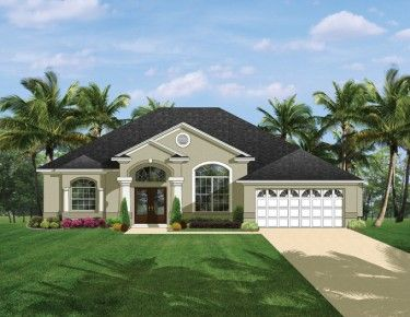 Home plans homepw76471 1 975 square feet 3 bedroom 2 for Florida house plans with photos