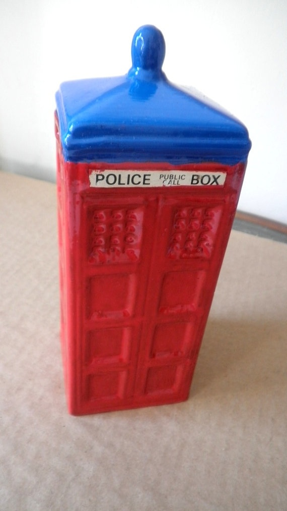British Police Call Booth Bank by shop20max on Etsy, $14.50