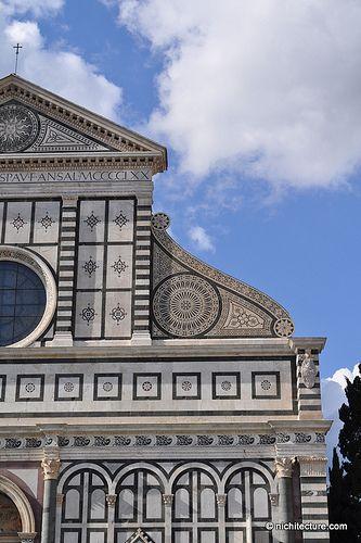 Santa Maria Novella, facade, 1458-70, commissioned by Giovanni di Paolo Rucellai from Leon Battista Alberti