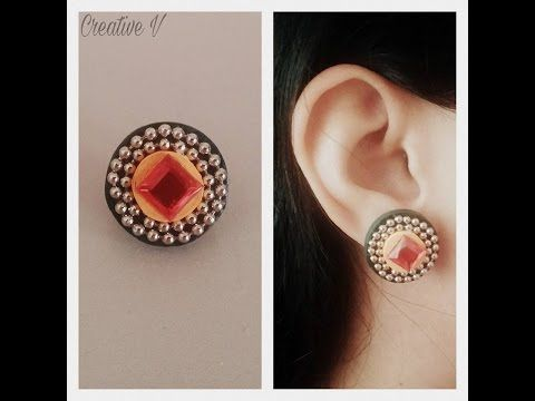 How to Make Quilling Stud Earrings/Design 13/Tutorial - YouTube