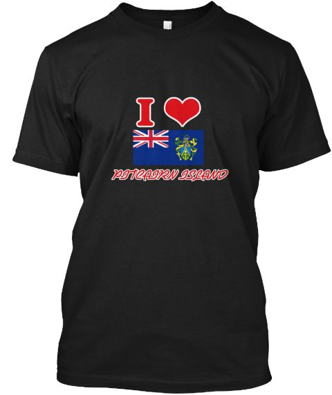 I Love Pitcairn Island Black T-Shirt Front - This is the perfect gift for someone who loves Pitcairn Island. Thank you for visiting my page (Related terms: I Heart Pitcairn Island,Pitcairn Island,Pitcairn Islander,Pitcairn Island Travel,I Love My Country,P #Pitcairn Island, #Pitcairn Islandshirts...)