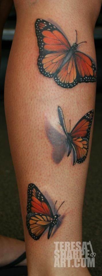 Monarch butterfly tattoo done right by by Teresa Sharpe