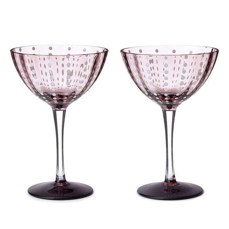 PEARL COCKTAIL GLASSES - SET OF 2 | mouth blown glasses, handblown | UncommonGoods