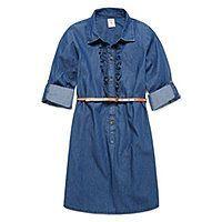Cool Girl Dresses Arizona Long Sleeve Chambray Shirt Dress - Girls 7-16 and Plus - Arizona Long Sl... Check more at http://24store.ml/fashion/girl-dresses-arizona-long-sleeve-chambray-shirt-dress-girls-7-16-and-plus-arizona-long-sl/