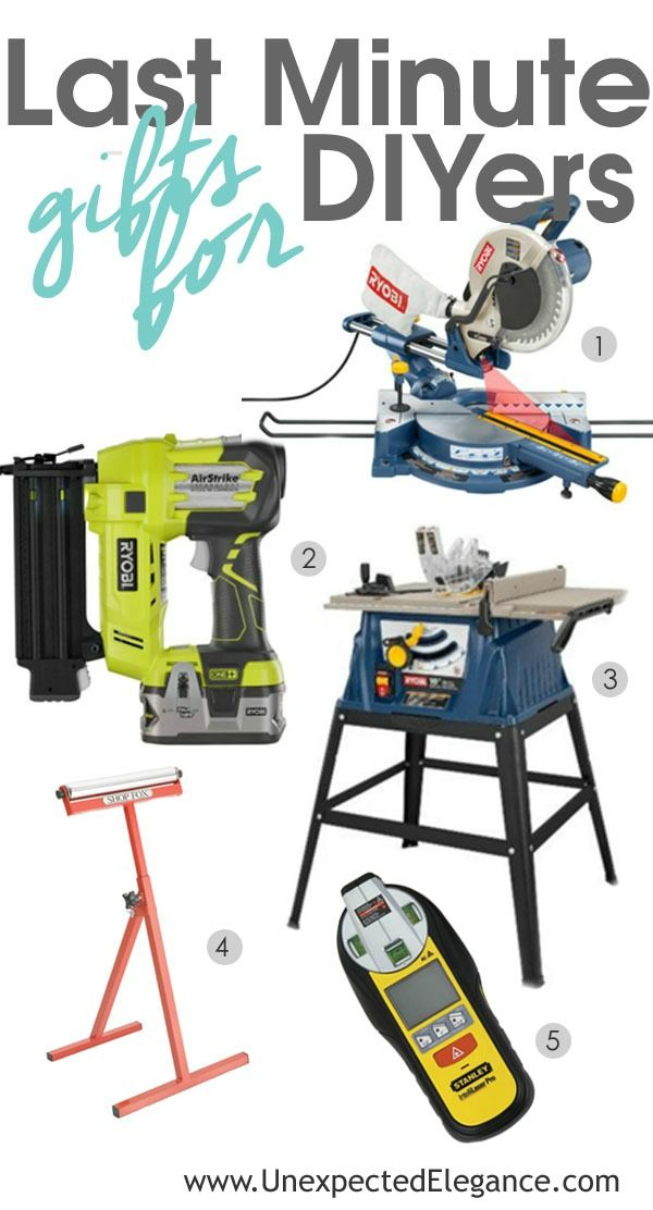 Find a list of last minute gifts for experienced DIYers. These tools are useful for many different types of projects and I'm positive they will love them!