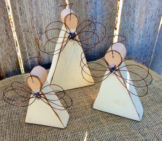 Holz-Engel | Primitive Engel | Geschnitzte Holz rustikale Bauernhaus Engel | Weihnachten | Erinnerung-Geschenk | Wohnkultur | Valentines | Engel