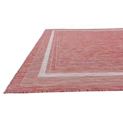 Charlton Home Erma Rust Red Outdoor Area Rug Rug Size: 9' x 12'