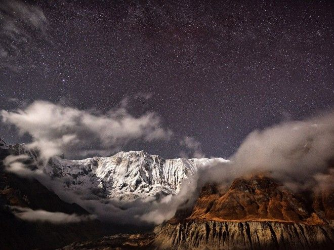Moonlit Mountains, Nepal | 1,000,000 Places