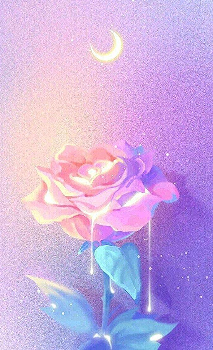 Fond D Ecran Rose Pastel Pink Wallpaper Mermaid Wallpapers Rose Drawing