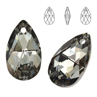 6106 Pear-shaped 28mm Silver Night  Dimensions: height - 28,0mm Colour: Crystal Silver Night 1 package = 1 piece
