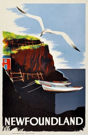 Newfoundland Canada, 1950s - original vintage poster listed on AntikBar.co.uk