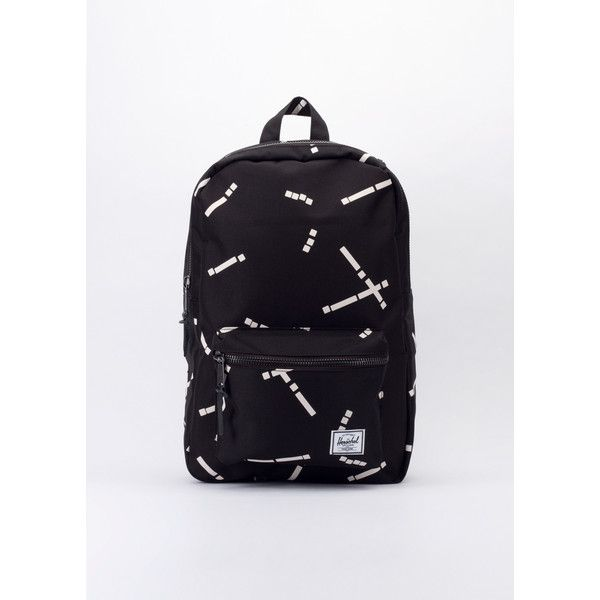 Herschel Settlement Code Backpack ($60) ❤ liked on Polyvore featuring bags, backpacks, patterned backpacks, laptop backpack, day pack backpack, leather daypack and herschel