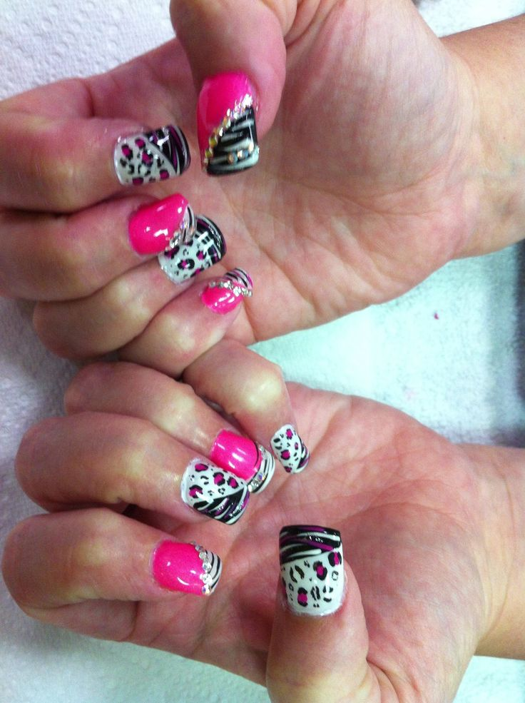 11 best nail designs images on pinterest colorful nails nail animal print nail designs by cherri prinsesfo Choice Image