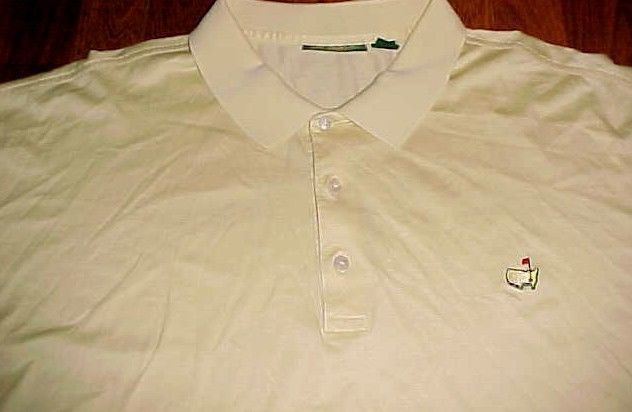 The Masters Amen Corner 60's 2-Ply Doubled Mercerized Yellow Golf Polo Shirt 3XL