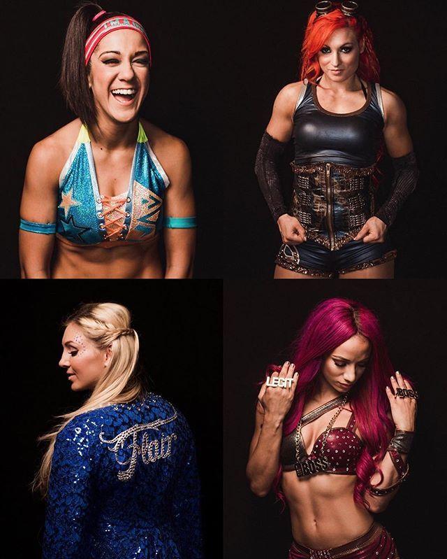 Charlotte Sasha Banks Bayley Becky Lynch #babesFromWrestling
