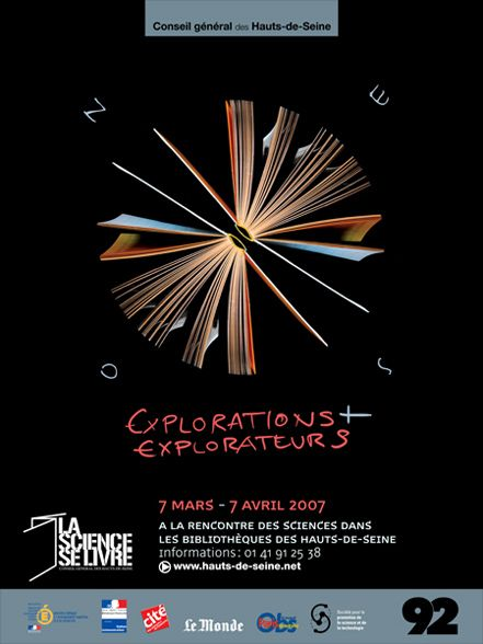 Poster for the cultural event La Science se livre, Paris © intwodesign