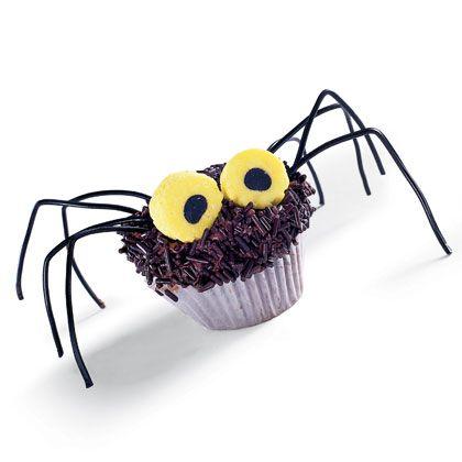 Cupcake halloween araña