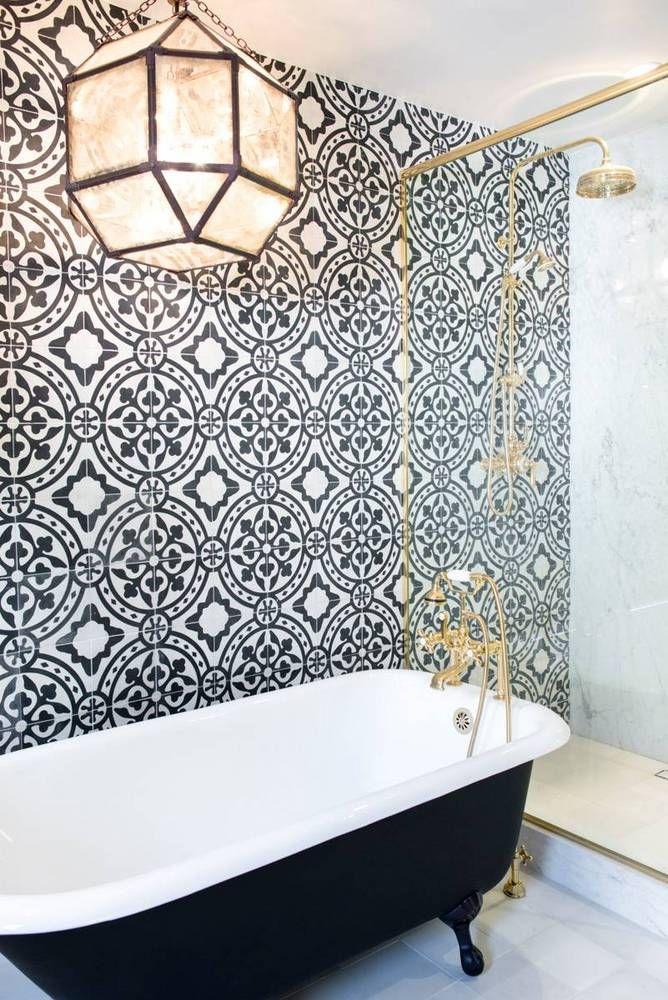 Spanish Colonial-Revival bathroom