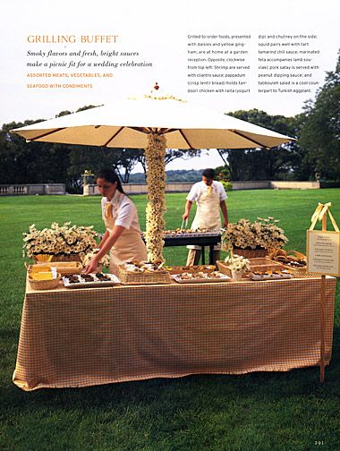 @Allison Hunt  buffet table under an umbrella.. maybe a cute idea for our Luau Themed pack meeting..